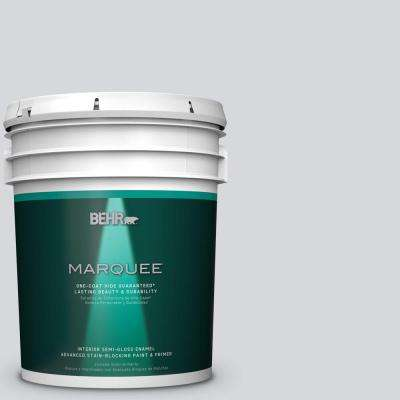 5 gal. #MQ3-25 Gray Shimmer Semi-Gloss Enamel One-Coat Hide Interior Paint and Primer in One
