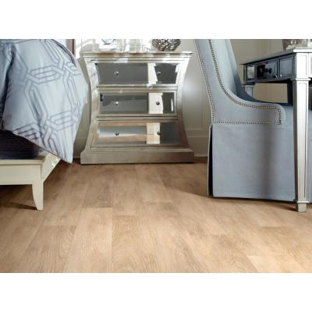 Inspiration 6 mil Raw Silk 6 in. x 48 in. Glue Down Vinyl Plank Flooring (53.93 sq. ft. / case)