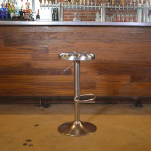 Brushed Nickel Bar Stool