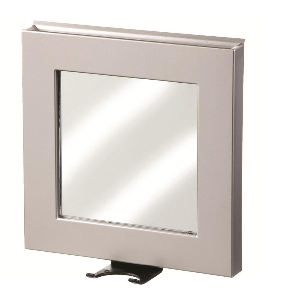 Charmant Shower Mirror In Satin Silver