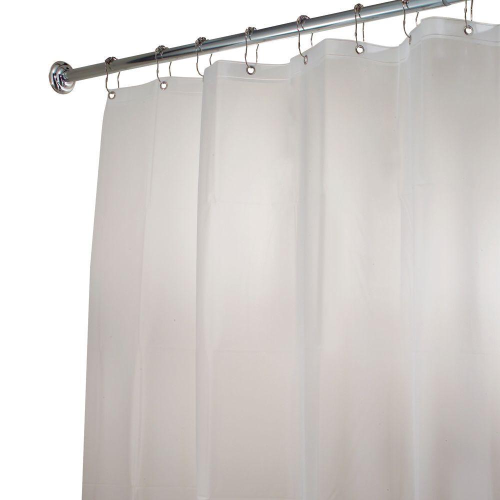 interDesign EVA Stall-Size Shower Curtain Liner in Clear Frost by interDesign