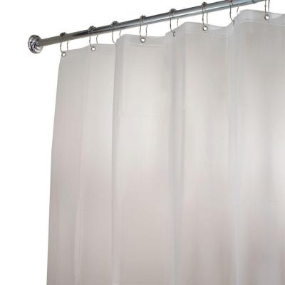 EVA Stall-Size Shower Curtain Liner in Clear Frost