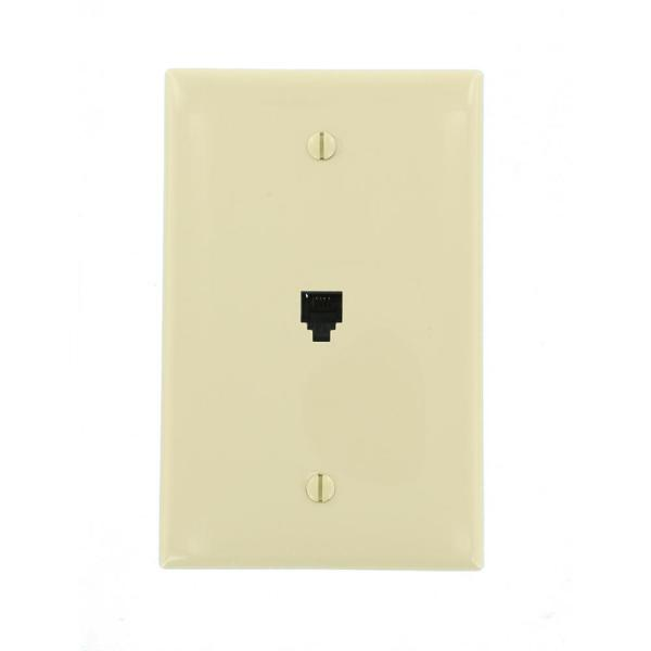 Ivory 1-Gang Phone Jack Wall Plate (1-Pack)