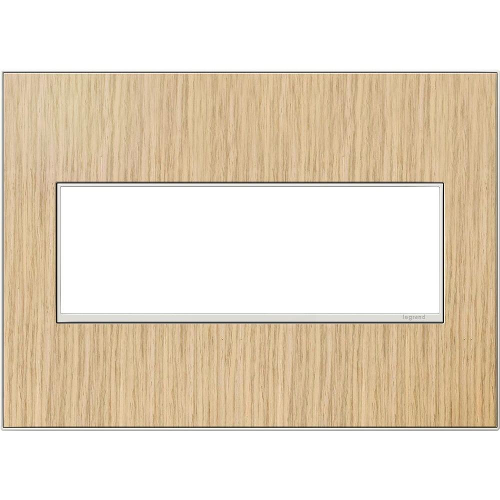 Legrand adorne 3-Gang 3 Module Wall Plate, French Oak