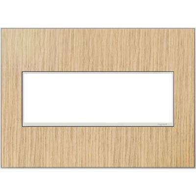 3-Gang 3 Module Wall Plate, French Oak