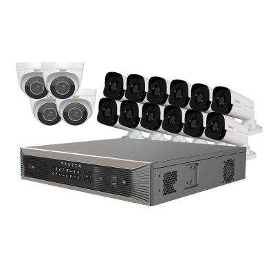 Ultra HD Plus 16-Channel 4TB NVR Surveillance System with 16 Audio Capable 4 Megapixel Cameras