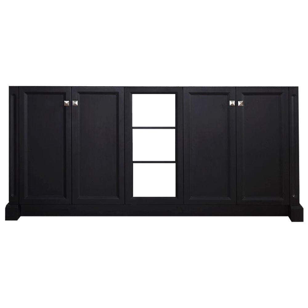 72 in. Westwood Double Sink Base Cabinet in Black