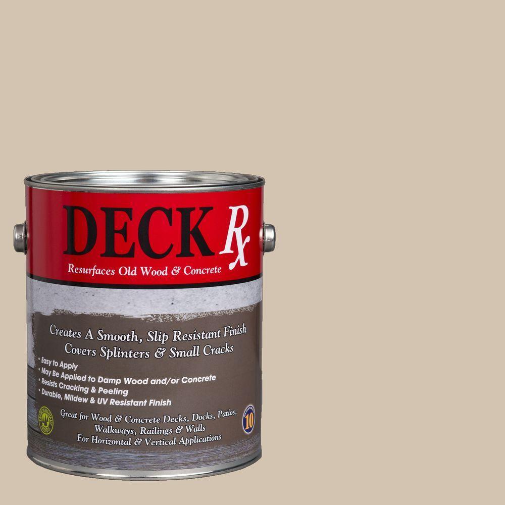 Deck Rx 1 gal. Beach Wood and Concrete Exterior Resurfacer