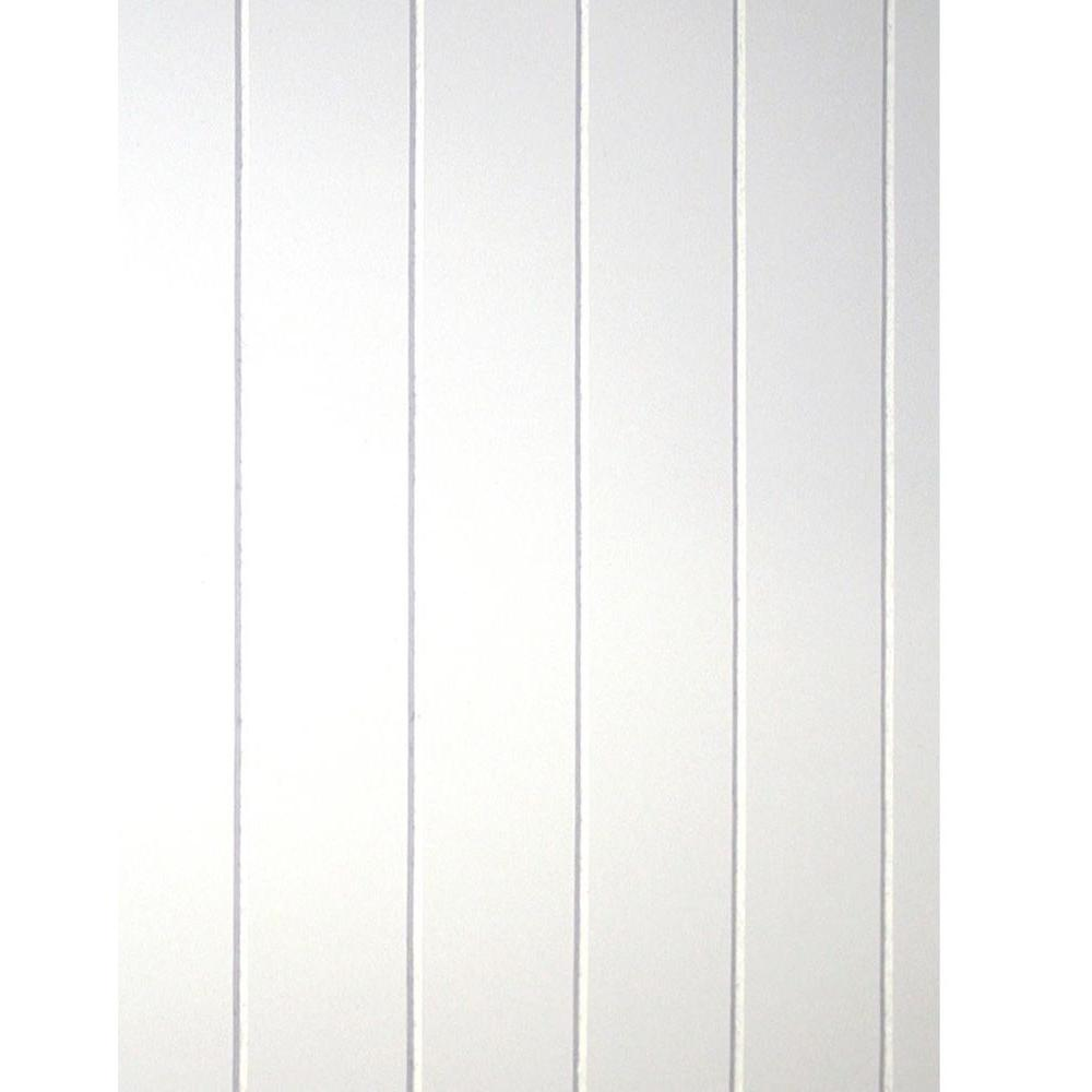 32 sq. ft. Beadboard White V-Groove Panel