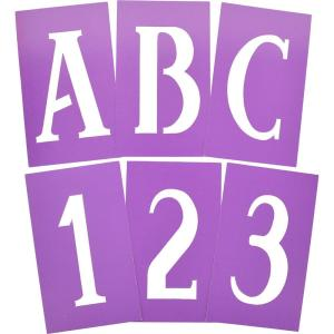 4 in. Serif Stencils Letters and Numbers