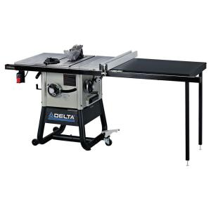 Delta 15 Amp 10 In Left Tilt 52 Contractor Table Saw With Cast Iron Wings 36 5152 The Home Depot