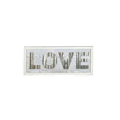 Love Small White Rustic Wood Sign