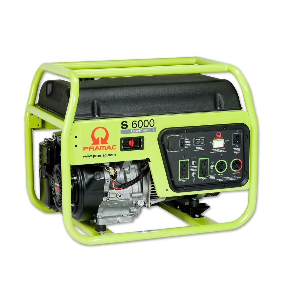 Pramac 6,000-Watt Gasoline Powered Manual Start Portable Generator-DISCONTINUED