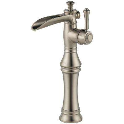 Cassidy Single Hole Single-Handle Open Channel Spout Vessel Bathroom Faucet in Stainless