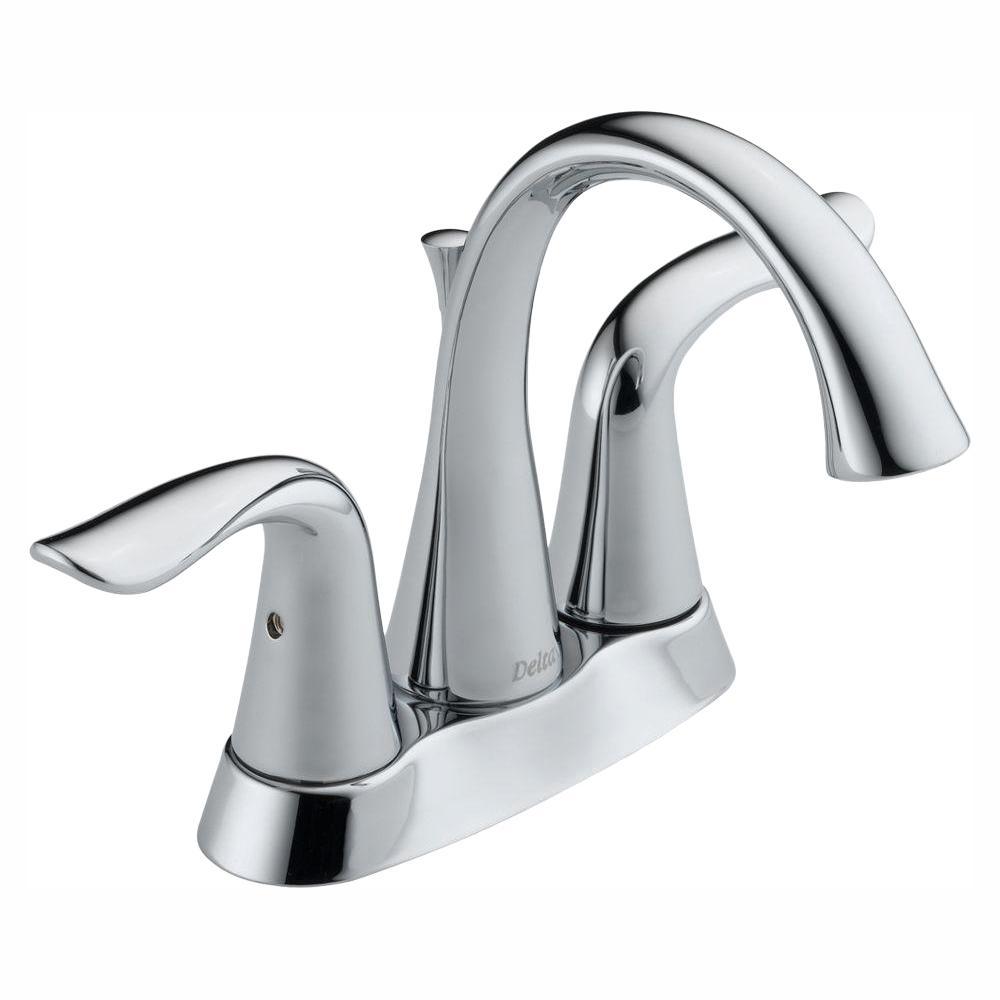 Lahara 4 in. Centerset 2-Handle Bathroom Faucet in Chrome