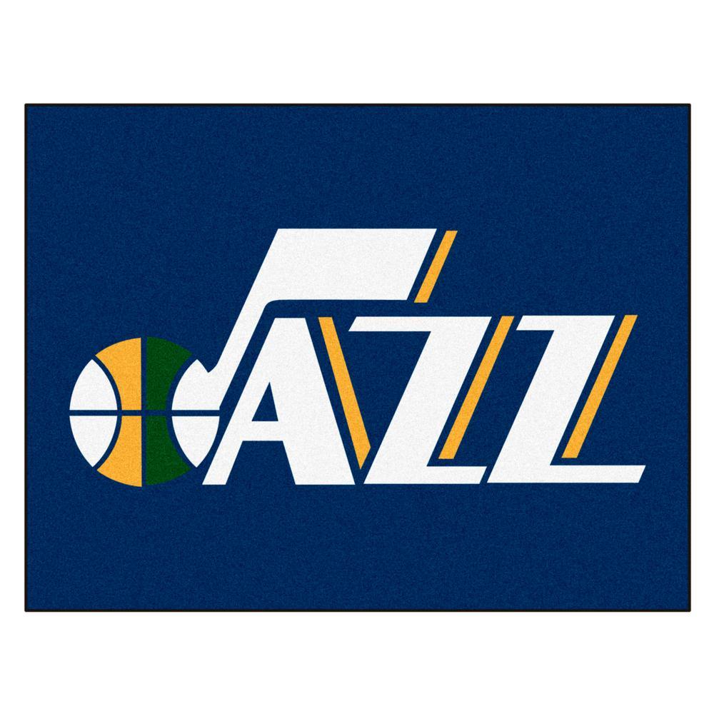 NBA - Utah Jazz Navy Blue 2 ft. 9 in. x 3 ft. 6 in. Indoor All Star Mat Area Rug