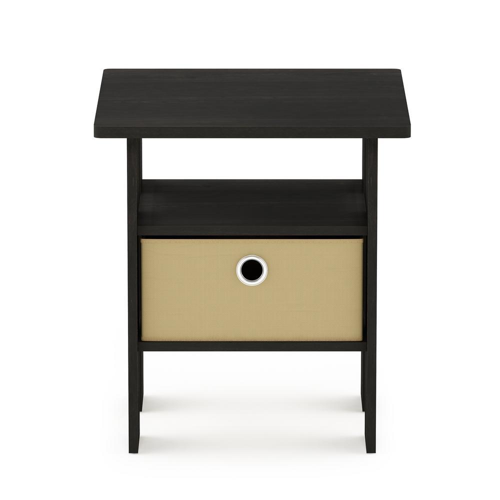 Espresso Brown Storage End Table