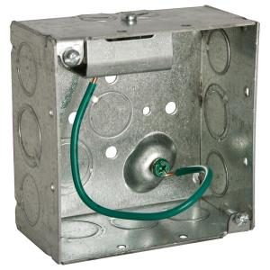 RACO Stab-It 4 inch Metal Square Electrical Box (25-Pack) by RACO