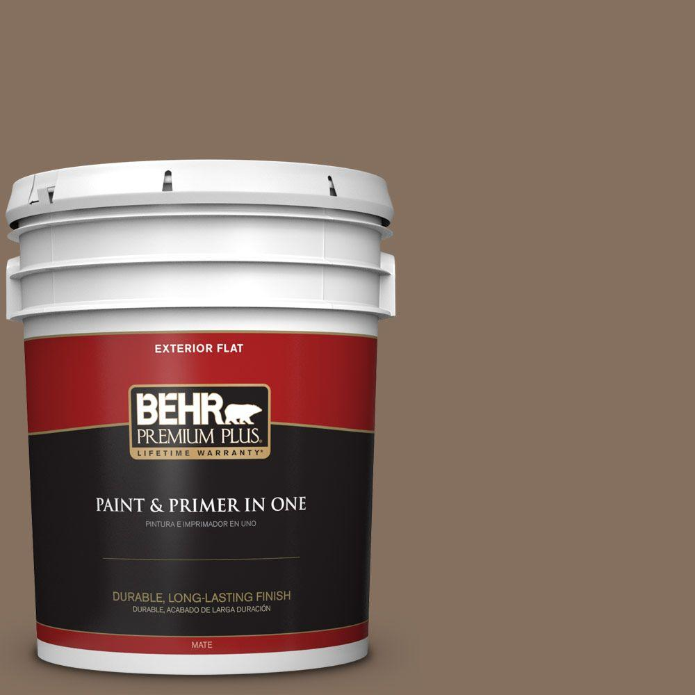 BEHR Premium Plus 5-gal. #N230-6 Whiskey Barrel Flat Exterior Paint