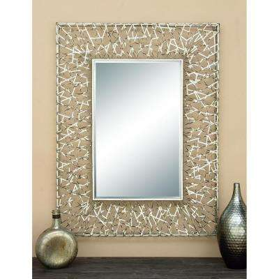 CONTEMPORARY 42 IN. X 32 IN. RIBBON FRAMED MIRROR