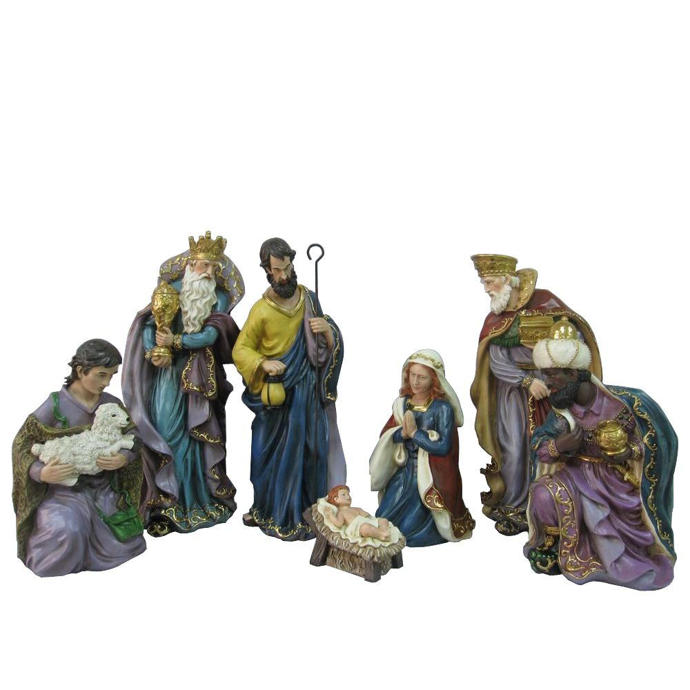 Home Accents Holiday 17 in. H Nativity Set (7-Piece)-JX1231A-G - The ...