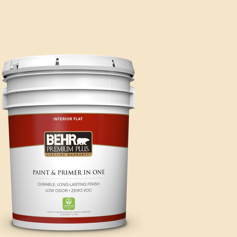 BEHR Premium Plus 5-gal. #M320-2 Rice Wine Flat Interior Paint