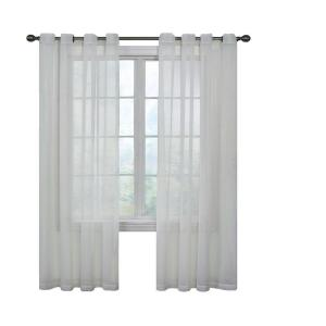 Curtain Fresh Arm and Hammer Odor Neutralizing Grommet White Sheer Curtain Panel, 63 inch Length by Curtain Fresh