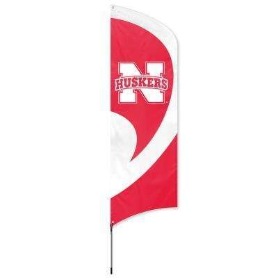 Nebraska Cornhuskers Tall Team Flag