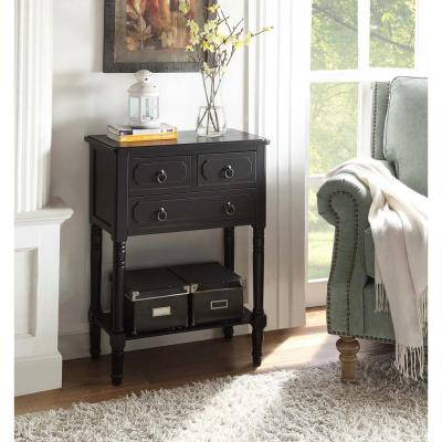 Simplicity Black Storage Console Table