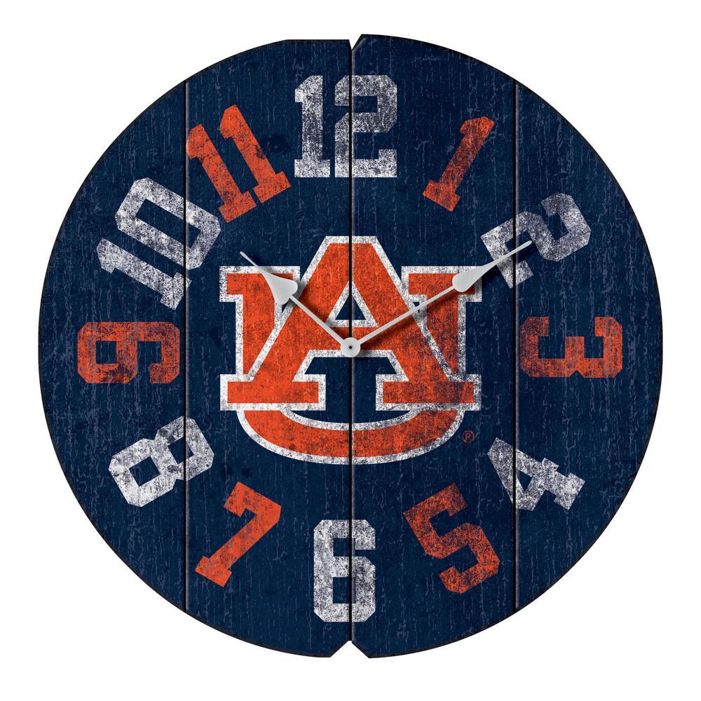 Auburn University Vintage Round Clock