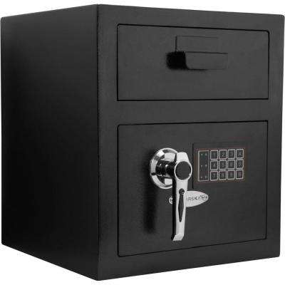 0.72 cu. ft. Steel Standard Keypad Depository Safe, Black