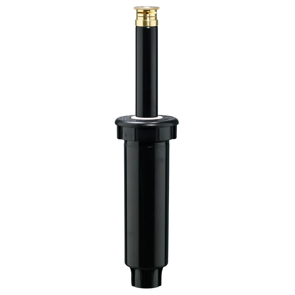 Plastic 1/4 Pattern Spring Loaded 4 in. Pop Up Sprinkler with Twin Spray Brass Nozzle