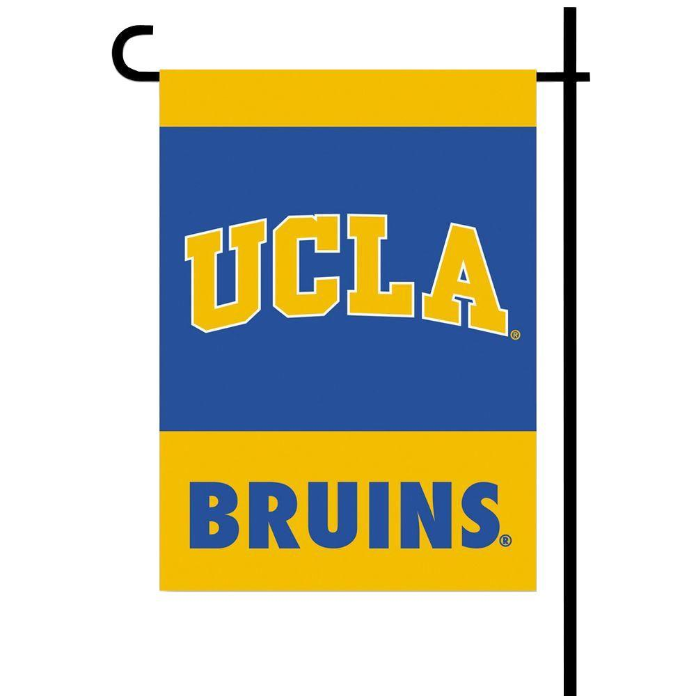 BSI Products NCAA 13 in. x 18 in. UCLA 2-Sided Garden Flag Set with 4 ft. Metal Flag Stand