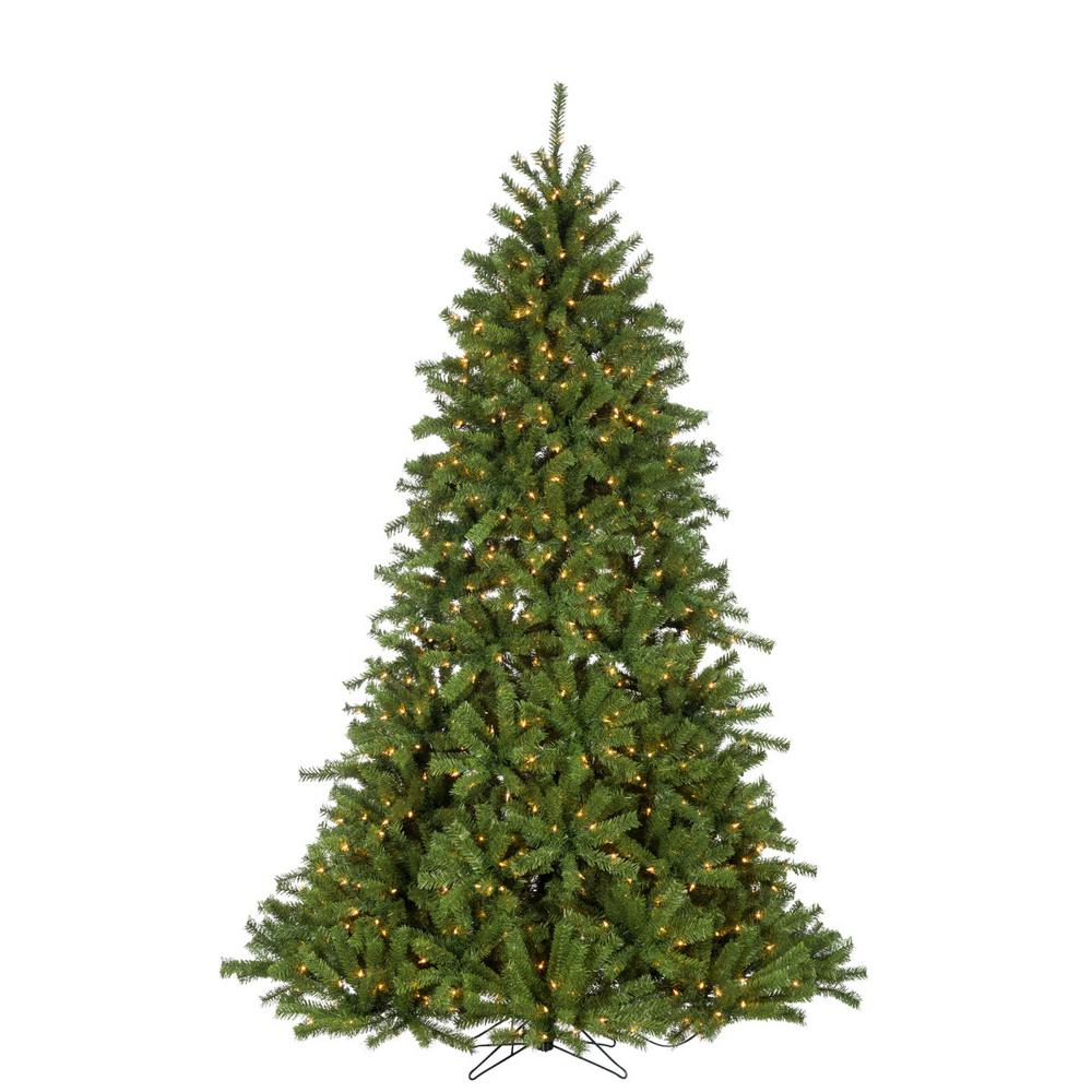 7 5 Foot Artificial Christmas Tree Multi Colored Lights: Fraser Hill Farm 7.5 Ft. Pre-lit LED Flocked Snowy Pine