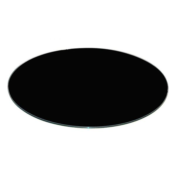 Groovy Fab Glass And Mirror 30 Inch Black Round Glass Table Top Lamtechconsult Wood Chair Design Ideas Lamtechconsultcom