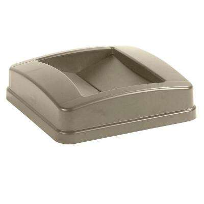 Centurian 23 Gal. Beige Square Trash Can Swing Top Lid (4-Pack)