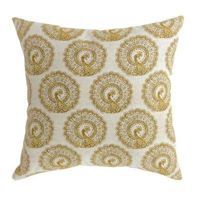 Fifi 22 in. Contemporary Standard Throw Pillow in Yellow