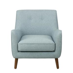 Blue Modern Accent Chairs.Homepop Brushed Light Blue Modern Tufted Accent Chair K7080 799 11