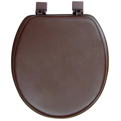 Ginsey Round Closed Front Soft Toilet Seat in Chocolate Brown
