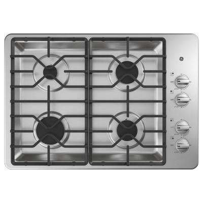 30 in. Built-In Gas Cooktop in Stainless Steel with 4 Burners Including Power Boil Burners