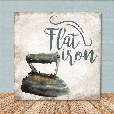 "16 in. x 16 in. ""A Flat Iron"" Canvas Printed Wall Art"