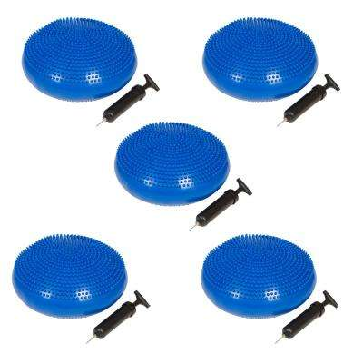 13 in. Dia PVC Fitness and Balance Disc, Blue (Set of 5)