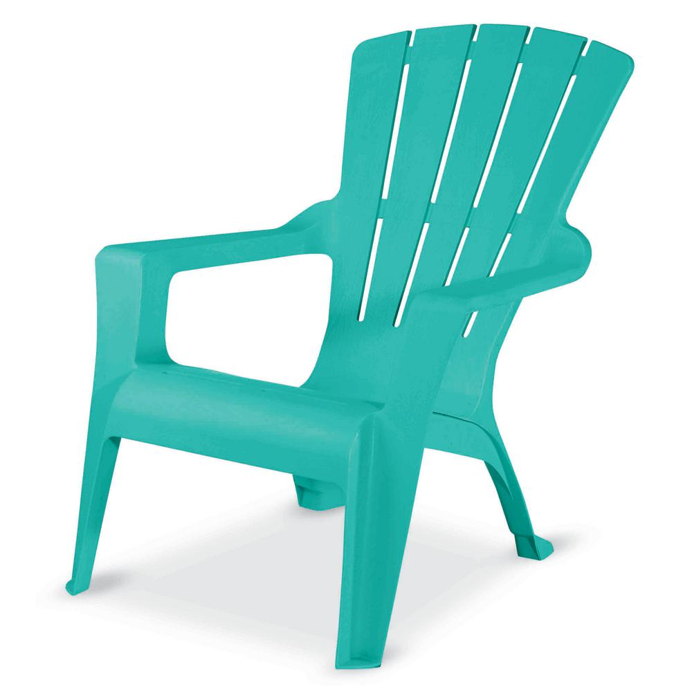 Seaglass Resin Adirondack Chair 242930 The Home Depot