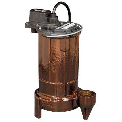 280-Series 1/2 HP Submersible Manual (No Switch) Effluent Pump