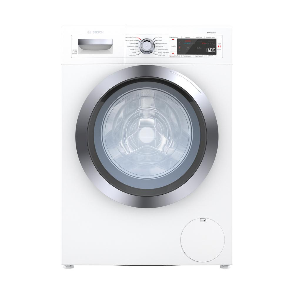 Bosch Home Connect 800 2-cu ft High Efficiency Stackable Front-Load Washer (White) ENERGY STAR | WAW285H2UC