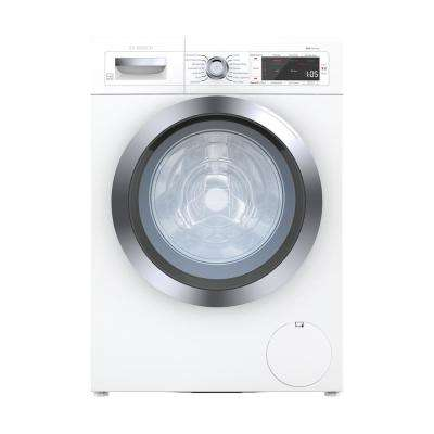 800 Series 24 in. 2.2 cu. ft. 240-Volt White with Chrome Accents High-Efficiency Front Load Smart Washer, ENERGY STAR