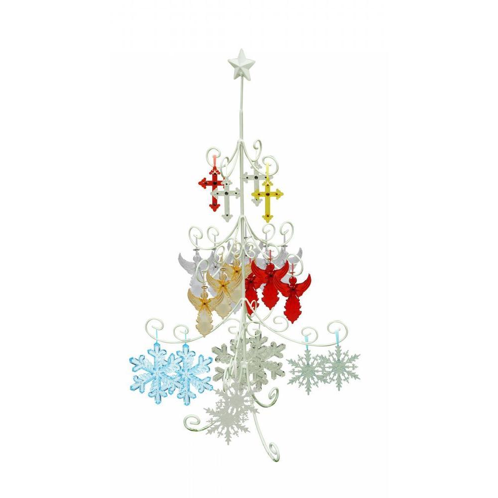 indoor pre lit christmas tree hanging decoration metal stand - Metal Christmas Decoration Stand