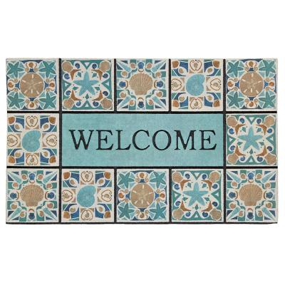 Welcome in Tiles Undersea Tiles 18 in. x 30 in. Recycled Rubber Door Mat
