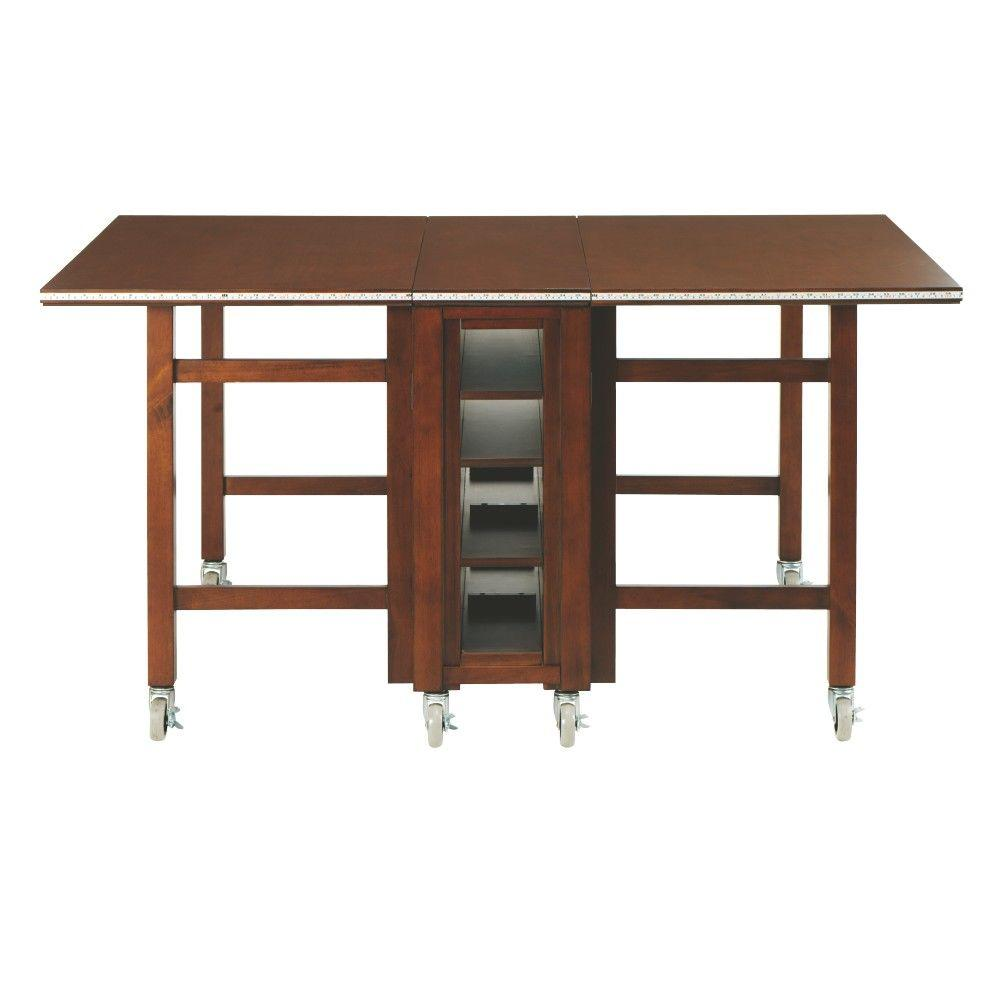 Martha Stewart Living Craft Space 6 Ft. Collapsible Wood Craft Table In  Sequoia