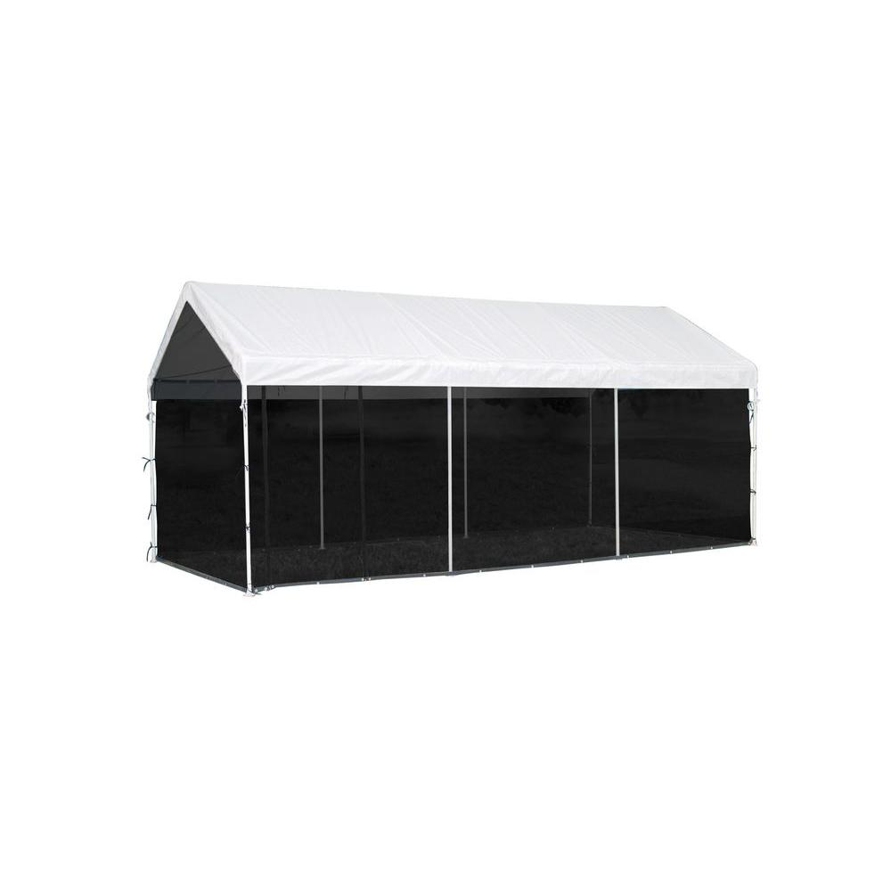 Home Depot Pop Up Carport : Shelterlogic max ap ft in white canopy